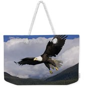 Eagle Flying In Sunlight Weekender Tote Bag