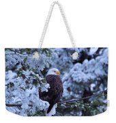Eagle In A Frosted Tree Weekender Tote Bag
