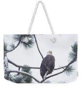 Eagle In A Pine Tree Weekender Tote Bag
