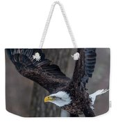 Eagle In The Forest Weekender Tote Bag