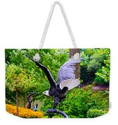 Eagle In The Garden Weekender Tote Bag