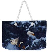 Eagle In The Storm Weekender Tote Bag