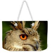 Eagle Owl Weekender Tote Bag by Jacky Gerritsen