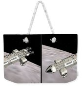 Eagle Shuttle - Gently Cross Your Eyes And Focus On The Middle Image Weekender Tote Bag