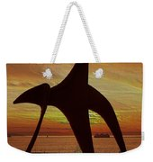 Eagle Sunset Over Elliott Bay Weekender Tote Bag