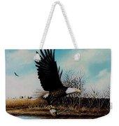 Eagle With Decoy Weekender Tote Bag
