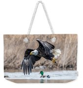 Eagle With Lunch Weekender Tote Bag