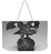 Eagle With Wings Outstretched And Open Beak Weekender Tote Bag