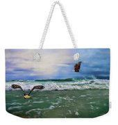 Eagles At Sea Wildlife Art Weekender Tote Bag