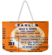 Eagles Tampa Stadium 1975 Weekender Tote Bag