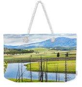 Eagles View, Hayden Valley, Yellowstone Weekender Tote Bag