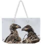 Eaglets Having A Chat Weekender Tote Bag