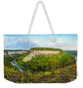 Early Autumn At Genesee River Canyon New York Weekender Tote Bag