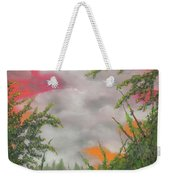Early Autumn Moon Weekender Tote Bag
