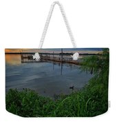 Early Day At The Dock Weekender Tote Bag