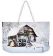 Early December Snowfall Morning Weekender Tote Bag