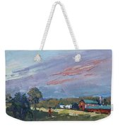 Early Evening At Phil's Farm Weekender Tote Bag