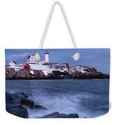Early Evening, Cape Neddick Light, Cape Neddick, Maine  -21087 Weekender Tote Bag by John Bald