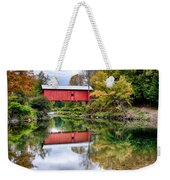 Early Fall Colors Surround A Covered Bridge In Vermont Weekender Tote Bag