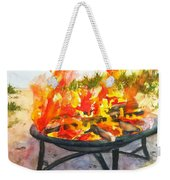 Early Morning Beach Bonfire Weekender Tote Bag