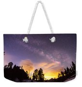 Early Morning Colorful Colorado Milky Way View Weekender Tote Bag