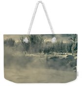Early Morning Frost On The River Weekender Tote Bag