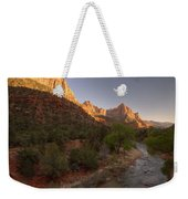 Early Morning Hike At Zion National Park  Weekender Tote Bag