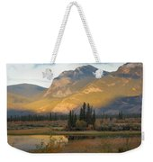 Early Morning In Jasper Weekender Tote Bag