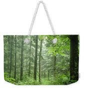 Early Morning In Swiss Forest Weekender Tote Bag