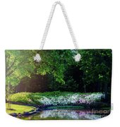 Early Morning Light At The Azalea Pond Weekender Tote Bag