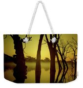Early Morning Mist At The River Weekender Tote Bag