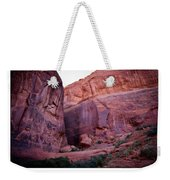 Early Morning Mystery Valley Colorado Plateau Arizona 04 Text Weekender Tote Bag
