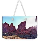 Early Morning Mystery Valley Colorado Plateau Arizona 05 Text Weekender Tote Bag