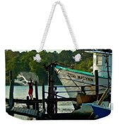 Early Morning Net Toss Weekender Tote Bag