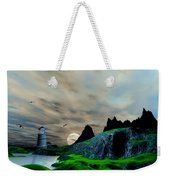 Early Morning Ocean Lighthouse Scene Weekender Tote Bag