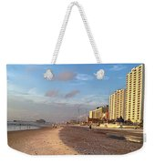 Early Morning On Daytona Beach Weekender Tote Bag