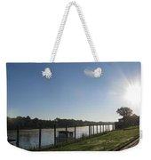 Early Morning On The Savannah River Weekender Tote Bag
