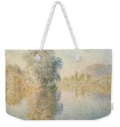 Early Morning On The Seine At Giverny Weekender Tote Bag