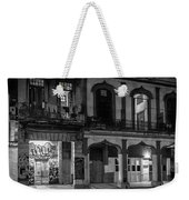 Early Morning Paseo Del Prado Havana Cuba Bw Weekender Tote Bag