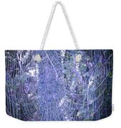 Early Morning Pearls Dew Kissed Spider Web Weekender Tote Bag
