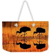 Early Morning Sandhill Cranes Weekender Tote Bag