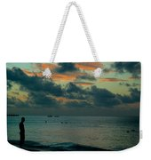 Early Morning Sea Weekender Tote Bag