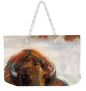 Early Morning Snow Weekender Tote Bag