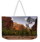 Early Morning Solitude At Zion  Weekender Tote Bag