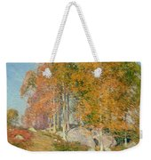 Early October Weekender Tote Bag by Willard Leroy Metcalf