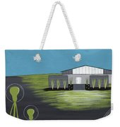 Early Painting Father And Son Aliens Weekender Tote Bag