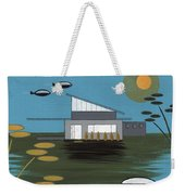 Early Painting Futuristic House Weekender Tote Bag