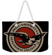 Early Pratt And Whitney Company Logo Weekender Tote Bag