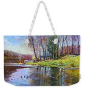 Early Spring In Bear Mountain Weekender Tote Bag