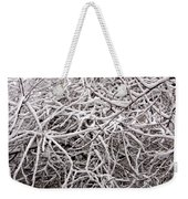 Early Spring Snow Weekender Tote Bag